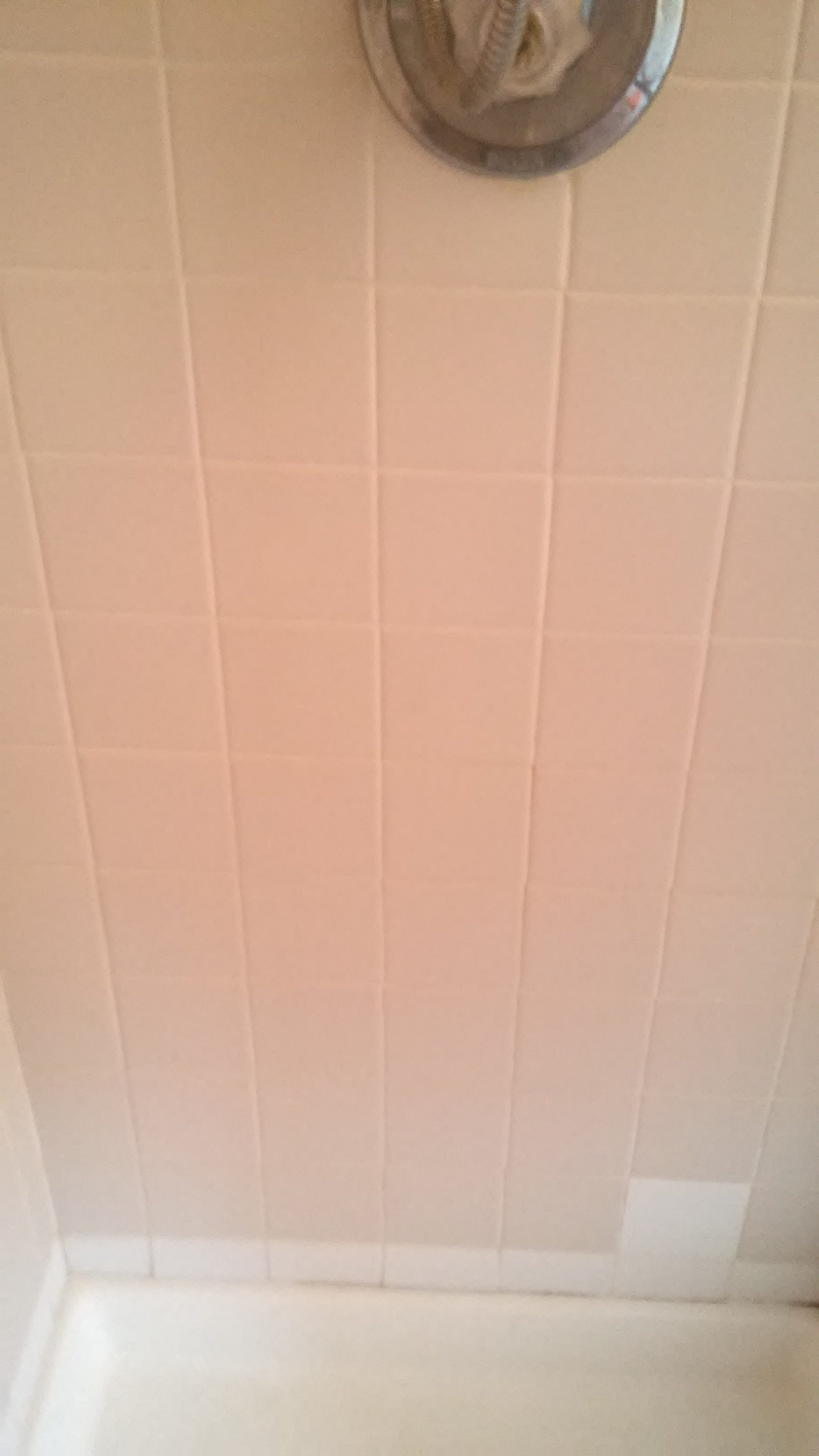 Shower tile clean before