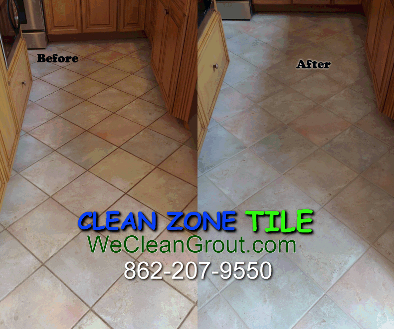 Dirty grout restored